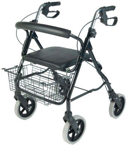 #puericultura NRS Healthcare M39634 – Andador con 4 ruedas, asiento y cesta