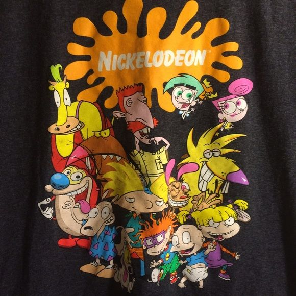 Grey Nickelodeon 90's Rewind Cartoons T-Shirt Worn once great condition Tops Tees - Short Sleeve