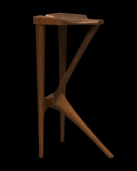 Wendell Castle; Three-Legged Stool, 1962,