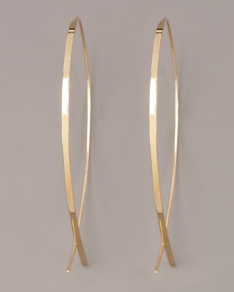 Obsessed with these Lana Upside Down Hoop Earrings from Neimans. Best basic everyday ear