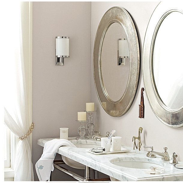 Silver Framed Oval Bathroom Mirrors