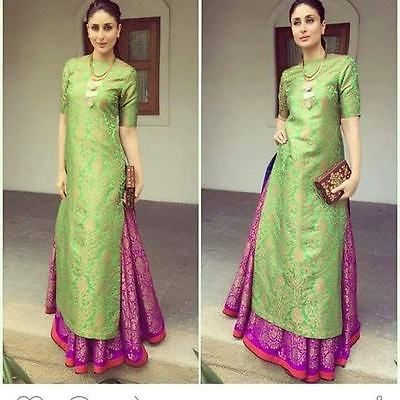 Indian Pakistani Suit Bollywood Anarkali Ethnic Designer Dress Salwar Lehenga 26 in Clothes, Shoes & Accessories, Women's Clothing, Dresses | eBay