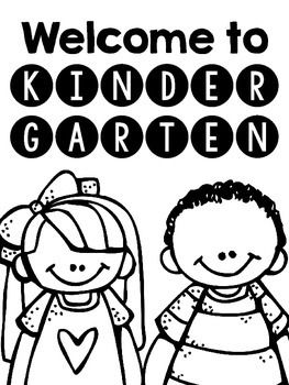 Welcome to Kindergarten Coloring Sheet #BackToSchool #ColoringSheets