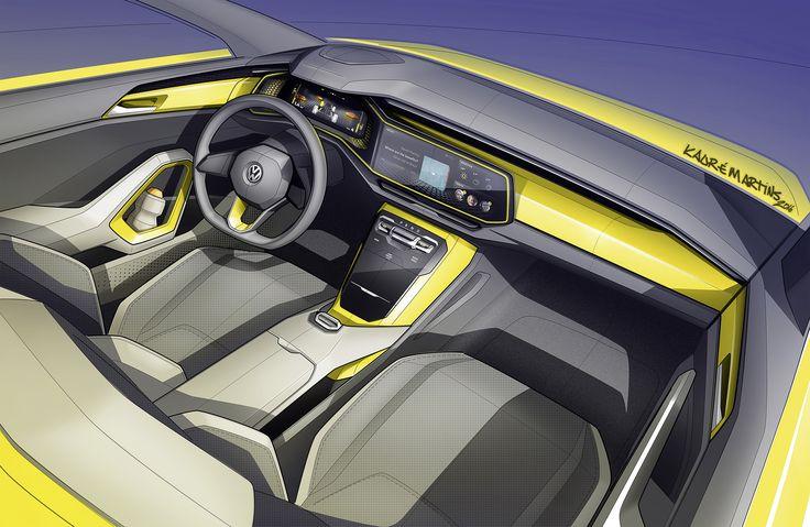 Volkswagen T Cross Breeze Interior Pinterest Car Interiors Interiors And Interior Sketch