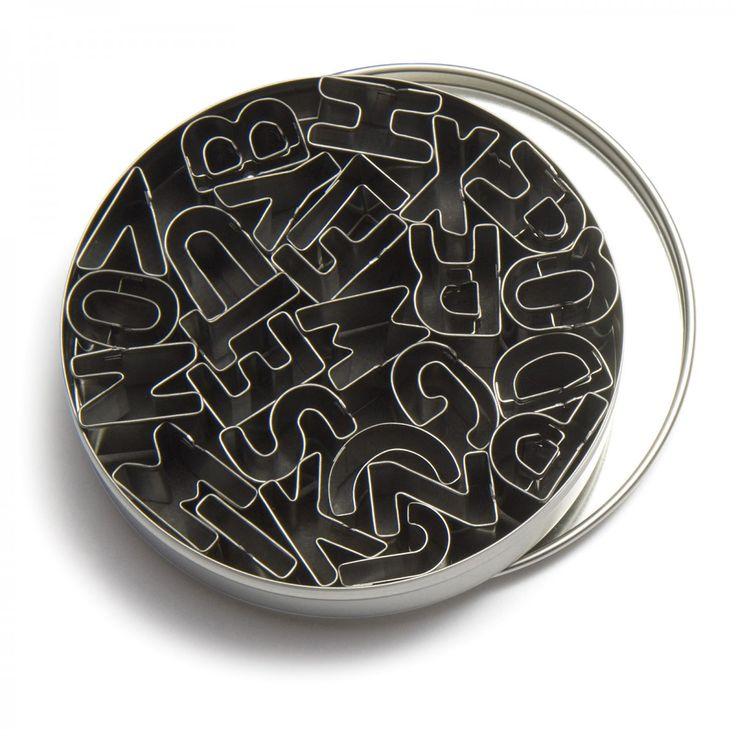 Alphabet Cutters - Set of 26 - David Mellor Design #cookiecutters #baking