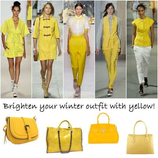 Brighten your mood in autumn and winter by adding yellow to your outfit. We've got a selection of handbags that are sure to lift your mood!