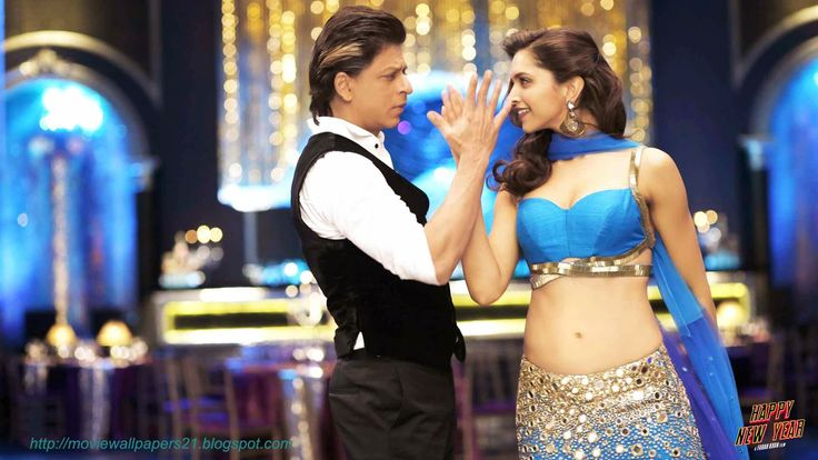 Online Movies Wallpapers Shahrukh and Deepika Bollywood Happy New