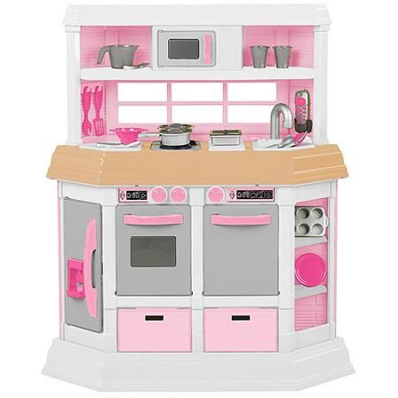American Plastic Toys Girls Cookin\' Kitchen - Walmart.com | Made ...