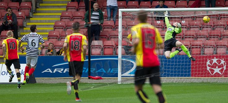 Partick Thistle's Chris Erskine opens the scoring during the Betfred Cup game between Partick Thistle and Queen's Park.