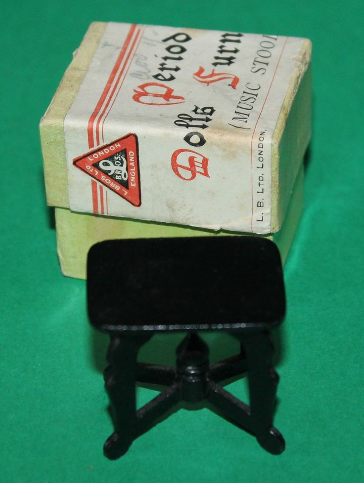 Vintage Dolls House Triang Period Furniture Music Stool With Original Box KM136 | eBay