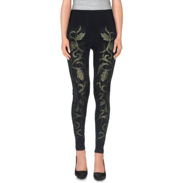 Italian Crazy Leggings ($58) ❤ liked on Polyvore featuring pants, leggings, black, slim trousers, slim fitted pants, jersey pants, slimming leggings and peg-leg pants
