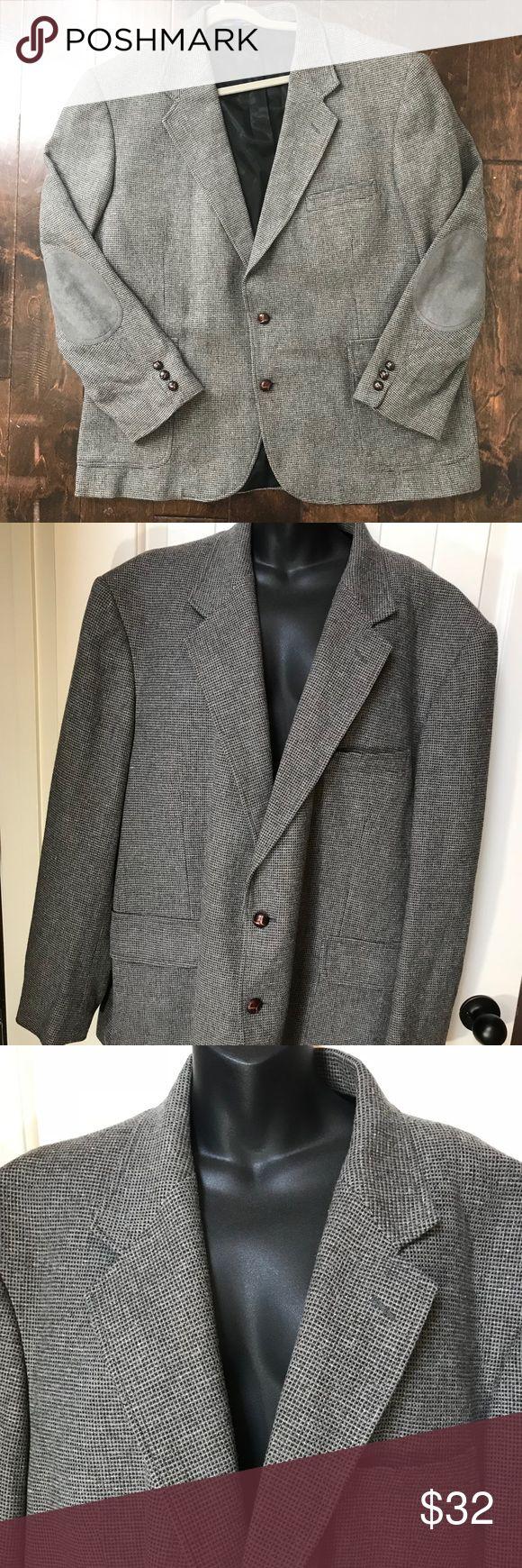 Vintage Pendleton Men Wool Blazer Elbow Patches 48 Vintage