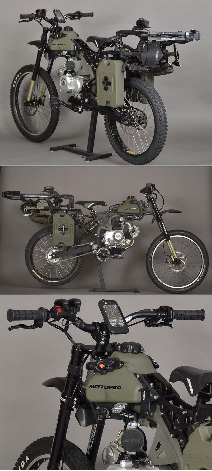 Motopeds Survival Bike : Black Opps Edition Not a true scooter perhaps but close and pretty cool
