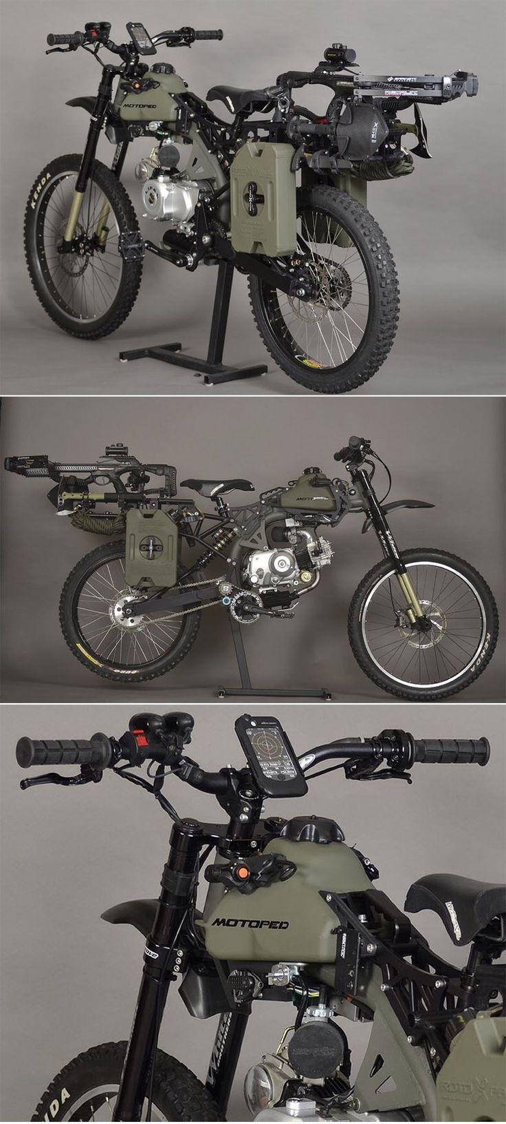 Motopeds Survival Bike : Black Opps Edition