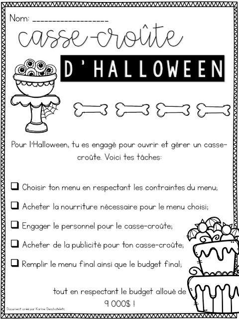 La classe de Karine: Situation problème d'Halloween