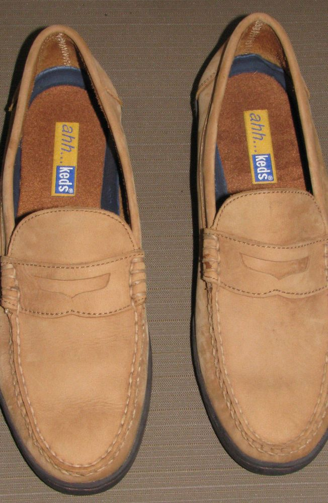 Tan Suede Leather Slip