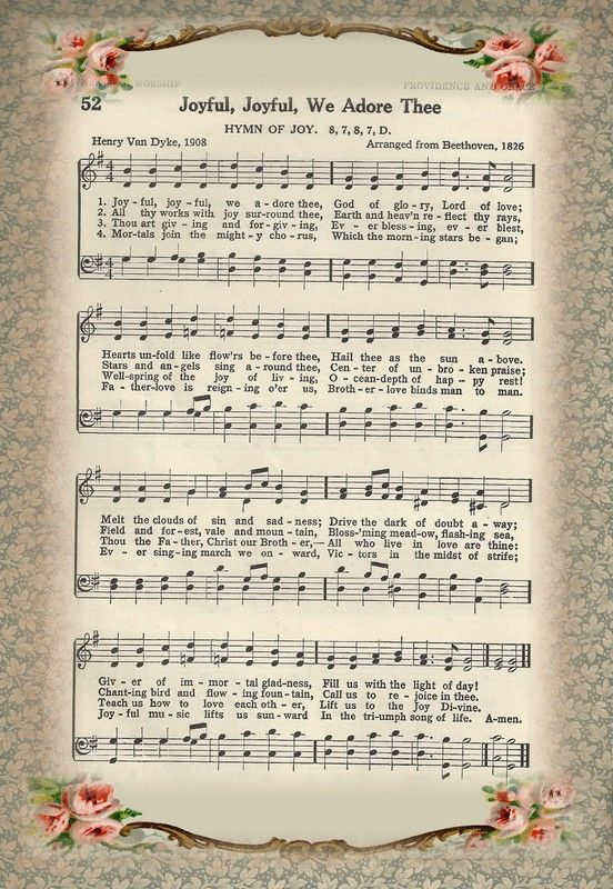 Music printBlessed Design, Little Birdie, Birdie Blessed, Hymns Sheet Music, Joy Joy, Joyful Joyful We Adore Thee, Christmas Lyrics Printables, Congregation Hymns, Adorable Thee