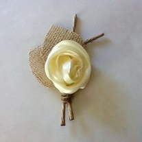 $11 Rustic Boutonniere - Boutineer- Shabby Chic - Rustic Wedding