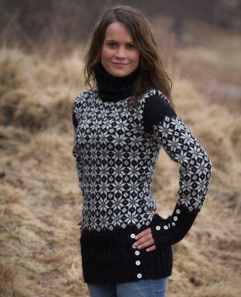 Sylvelin er en genser med tradisjonelt mønster med ny vri. Finnes i 3 størrelser. Design: Ingvill Freland