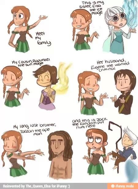 XD Oh boy...(Technically, The fandom put Rapunzel, Eugene, Tarzan, and Jack there)