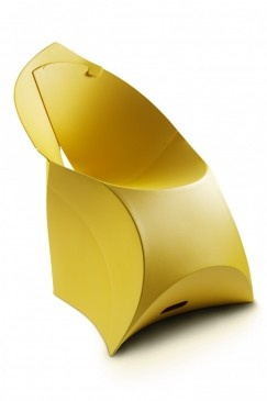 chair - starts as a flat envelope and then you fold it into a chair. Space saving and gorgeous design - love it