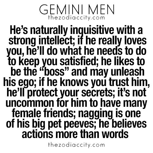 What you need to know about gemini men.