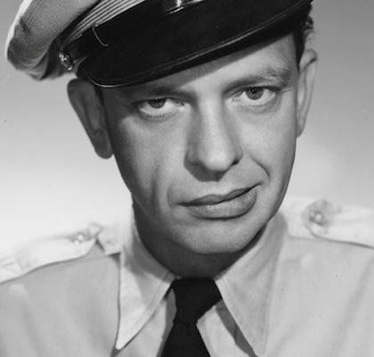 Barney Fife! He is one of my favorite actors from when he use to be on tv )