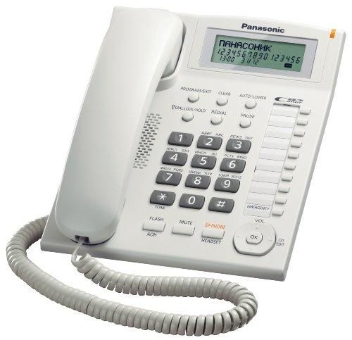 Oferta: 36.41€ Dto: -13%. Comprar Ofertas de Panasonic KX-TS880EXW - Teléfono fijo (control de volumen, identificador de llamadas, pantalla LCD), blanco barato. ¡Mira las ofertas!