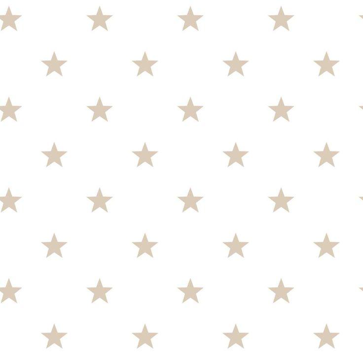 Noordwand Sterren behang in wit/camelbeige Stars Sterren ster behang sterren Long Island Nautic Marine