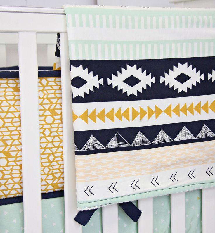Aztec Gold and Mint Blanket