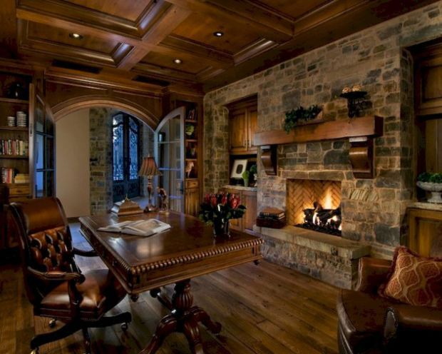 River Crest Office Lucas Eilers Rustic Home Offices Cozy Home