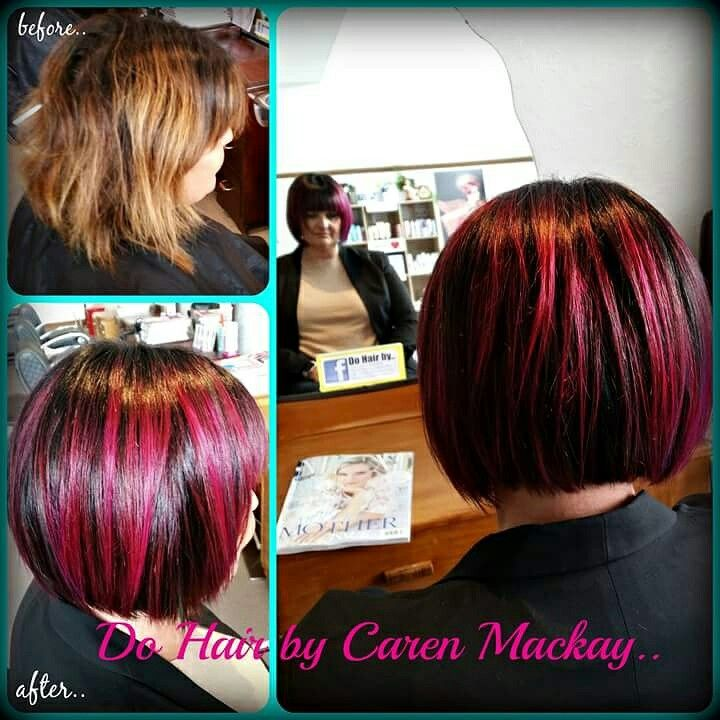 When your clients are braver with colour yhan you.. Deepest chocolate with hot pink & slashes of turquoise..