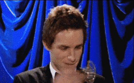 When he basically was the male version of J Law when handed an award.   Community Post: 17 Times Eddie Redmayne Was Bae