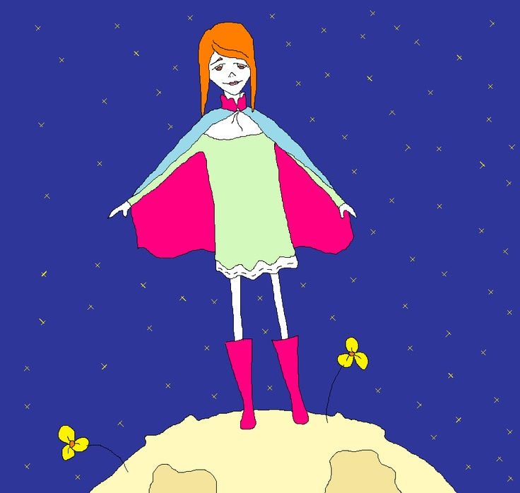 little princess, illustration, space