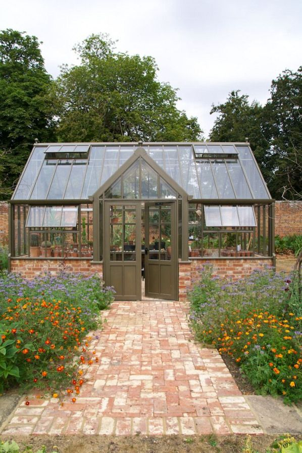 The Victorian Lodge Glasshouse By Hartley Botanic In Bronze Situated In Oxfordshire England The In 2020 Backyard Greenhouse Contemporary Garden Victorian Greenhouses
