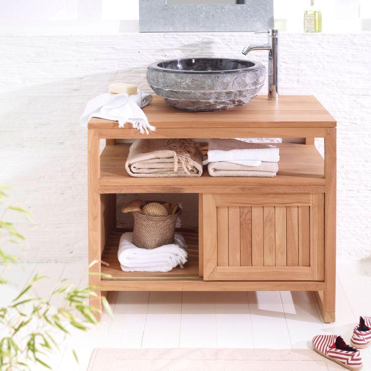64 best images about petite sdb am nager dans chambre on pinterest zinc t - Castorama meuble vasque ...