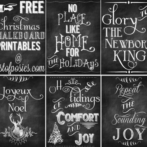 Thinking about the holidays like I am? 5 Free Christmas Chalkboard Printables