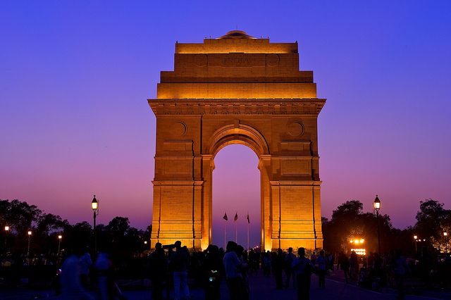 The India Gate, New Delhi, India