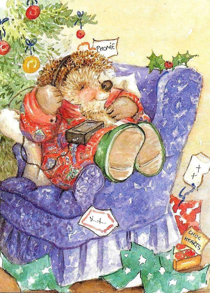 Nice Hallmark Country Companions Hedgehog /& Mouse ~ Thank You card