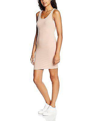 16, Beige (Nude), New Look Women's Low Back Bodycon Dress NEW