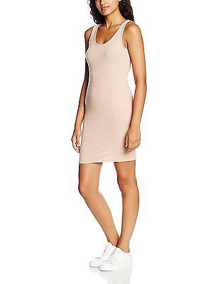 12, Beige (Nude), New Look Women's Low Back Bodycon Dress NEW