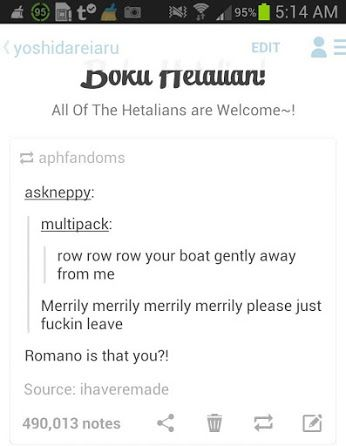Sorry for swears but ROMANO