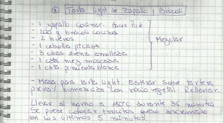 TARTA LIGHT DE ZAPALLO Y BROCOLI   #SALADO #ENTRADAS #PIE #ZAPALLO