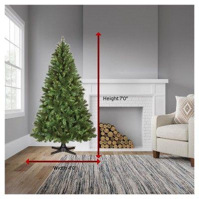 7ft Prelit Artificial Christmas Tree Douglas Fir Clear Lights - Wondershop, Green