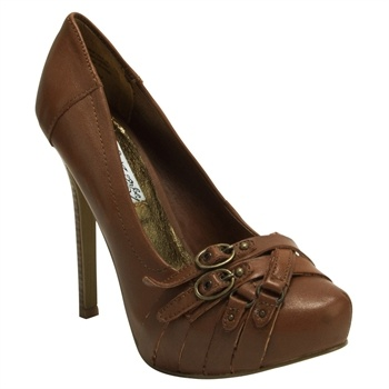 Naughty Monkey Snoop Buckle Detail Platform Pump #VonMaur #NaughtyMonkey  would be so cute with a business outfit