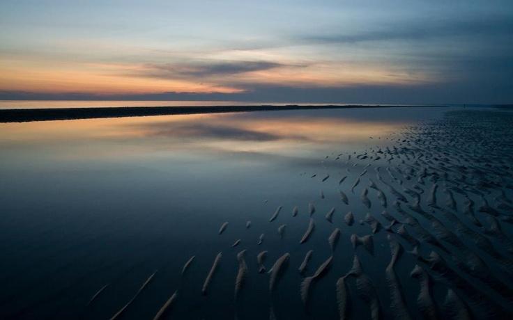 Lo spettacolare mare di Bibione di sera