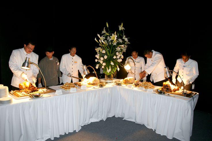 Buffet, Catering del Marriot.