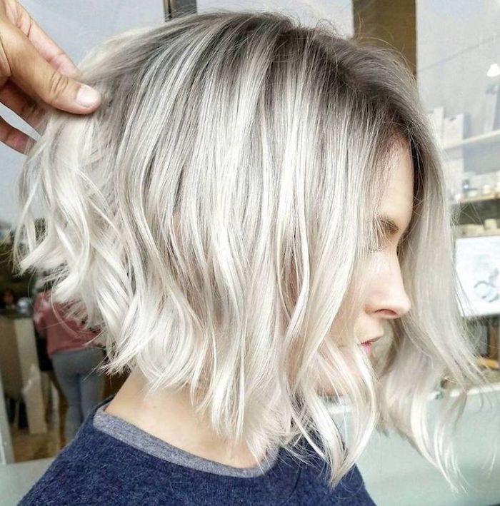 1001 Idees Carre Plongeant Degrade On Arrondi Les Angles Carre Plongeant Blond Coupe De Cheveux Coiffure Carre Plongeant