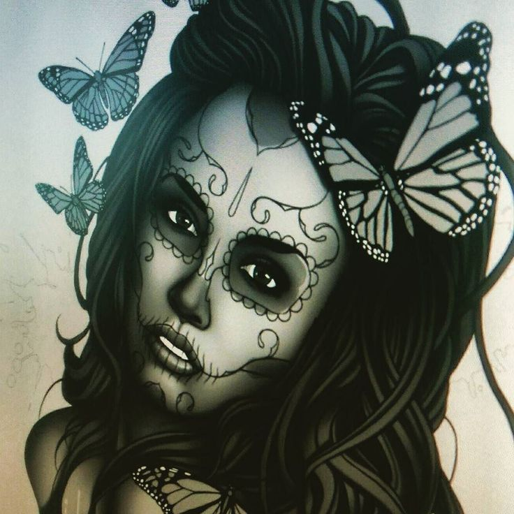 Sugar skull girl Work in Progress. Wanted to try my own take on on a # ...