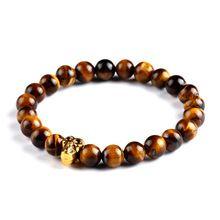 Crânio pulseiras e pulseiras de pedra Natural contas Buddha pulseira para mulheres homens jóias Pulseras Bracciali(China (Mainland))